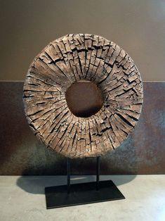 Wood effect wheel Abstract Sculpture, Wood Sculpture, Wall Sculptures, Abstract Art, Trunk Furniture, Chandelier Art, Driftwood Art, Wooden Art, Land Art