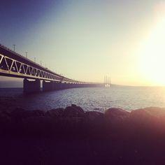bengtssonsofia@ instagram. #öresundsbron #øresundsbron #öresund #øresund #ocean #sea #water #sky #sunset #nature #summer #fromwhereistand #beautiful #iphone #sweden #swedish #sverige #instagram #statigram