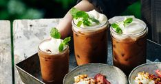 Spiced ice coffee | Recipe from Santa Maria Santa Maria, Coffee Recipes, Moscow Mule Mugs, Iced Coffee, Fresh Rolls, Spices, Tableware, Hot, Ethnic Recipes