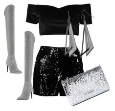 """""""Christmas party yeah!"""" by efsi on Polyvore featuring Boohoo, Dune and Love Moschino"""