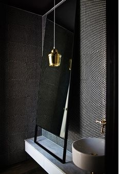 Small bathroom inspiration -narrow ledge