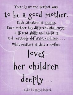 Love this.. you cannot judge another mother's style of raising HER children based on your style of raising YOUR children.