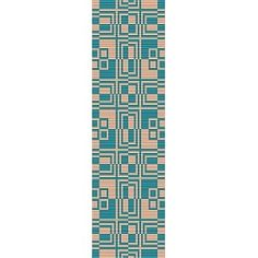 Boxed In Cuff Bracelet - Loom Bead Pattern