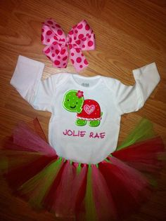 turtle girl valentine's day outfit by OhSoSassyBoutique on Etsy, $27.00