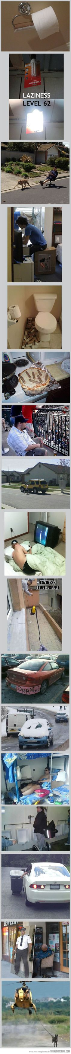 17 Acts Of Epic Laziness... Seriously I'm cracking up at the expert level of laziness.... Sooo funny!