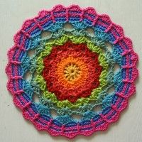 Crochet Mandala Wheel made by Susie, East Sussex, UK, for yarndale.co.uk