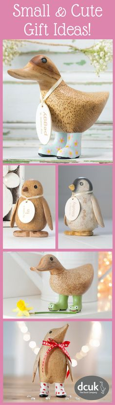 Looking for a small, but perfectly formed, gift idea for a friend or loved one? Our 'babies' include many designs of ducks and penguins, all hand carved and painted. Each can be personalised with the name of your choice! So if you are looking for an ooooooh and an ahhhhhhhh reaction, take a waddle over to our website to explore our smaller options! Love The Duck Company, DCUK!