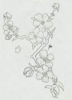 cherry_blossoms__branch_sketch_by_faytofallstars-d5gzuwk.jpg (762×1048)