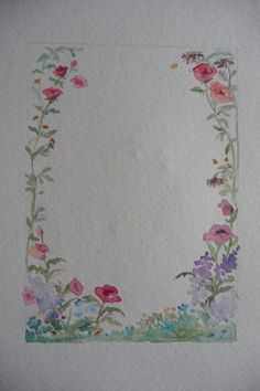 Create personal greeting cards with original watercolor painting. Here's how to create an oval frame of painted flowers for your greeting. Your painting makes it a one-of-a-kind personal card for the recipient to frame. Wreath Watercolor, Watercolor Cards, Watercolor Paintings, Watercolors, Oval Frame, Your Paintings, Homemade Cards, Painting Inspiration, Greeting Cards