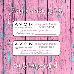 Personalised Avon Catalogue Products Address Stickers Labels Seals Wholesale lot
