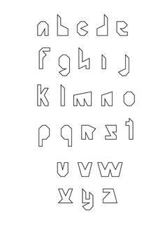Personal Font Design 2 by Lynn Di, via Behance