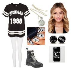 """""""Sans titre #834"""" by tva-lpz ❤ liked on Polyvore featuring Quiz and Dr. Martens"""