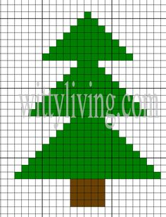 basic cross stitch design tree -