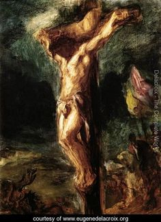Bible In My Language / Christ on the Cross (sketch) 1845 - Eugene Delacroix