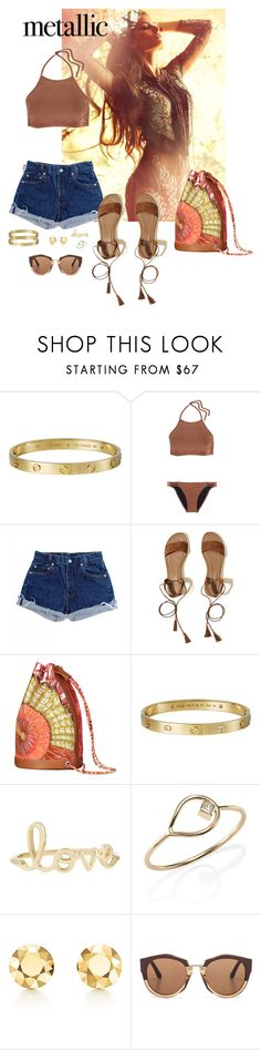 """Untitled #68"" by rafieldshow ❤ liked on Polyvore featuring Giallo, Melissa Odabash, Levi's, Hollister Co., Cartier, Sydney Evan, ZoÃ« Chicco, Elsa Peretti and Marni"