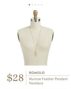 In silver please!!! Romolo Munroe Feather Pendant Necklace $28