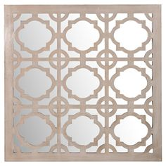 Wall mirror with a quatrefoil silhouette and gray frame.  Product: Wall mirrorConstruction Material: Wood and mi...
