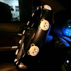 $28.79 Rilakkuma PU Leather Auto Car Steering Wheel Covers 15 inch 38CM - Black Yellow, Selected high-grade PU Leather, do not fall off, Inner ring using Natural rubber, Green, No stimulation, Non-Slip, Excellent breathability, pest control, sterilization, anti-static, Easy to clean, no deformation, high wear resistance, Four Seasons General.
