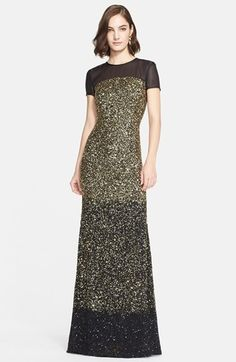 { glittering gold gown }
