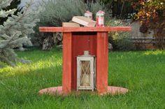 diy round wood table