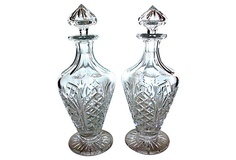 Cut Glass Decanters, Pair on OneKingsLane.com