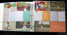 cute boys baseball pages - project life