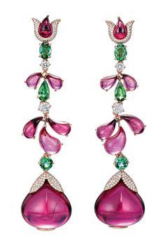 CHOPARD | Pink Garden Earrings | {ʝυℓιє'ѕ đιåмσиđѕ&ρєåɾℓѕ}