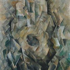 """La guitarra"" (1909) Georges Braque."