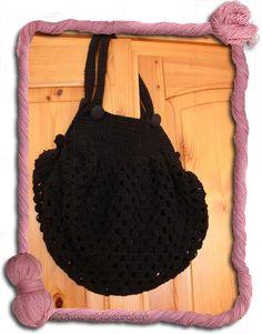 Defi>Grannys>Projets N° 85 sac boule noir terminé - Dane et le crochet