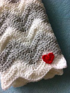 Crochet Ripple Blanket via Etsy