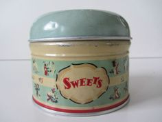 Vintage worcester ware English Mint green sweets tin collectable kitchenalia