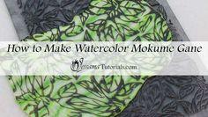 Polymer clay watercolor mokume gane