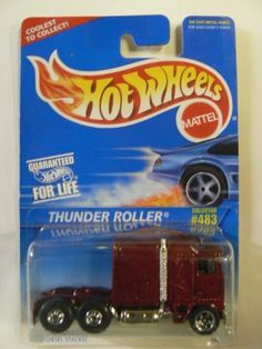 """Hot Wheels Thunder Roller on """"Coolest to Collect"""" Card Variant. Custom Hot Wheels, Vintage Hot Wheels, Hot Wheels Cars, Model Truck Kits, Hot Wheels Display, Matchbox Cars, Weird Cars, Automobile, Courses"""