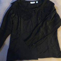 Nordstroms Ellen Tracy silk blouse This blouse is 100% silk like new condition. It has a slightly tapered waistline so it's not a boxy fit. Cuffs at wrist are very tapered (see pics) Size 12 but I'm usually a 14 and it fits me beautifully. Ellen Tracy Tops Blouses