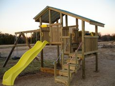 homemade playset. YES PLEASE!