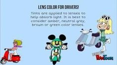 Wearing sunglasses while driving!