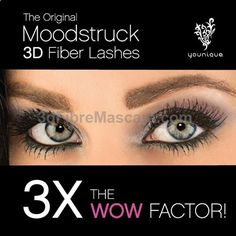 Get 3X the WOW factor with the original Moodstruck 3D Fiber Lashes from Younique.
