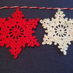 Coming soon, candy striped snowflake garlands...