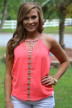 Dreamed to Life Top: Neon Coral