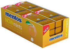 Amazon.com : Mentos NOWMint Tin, Orange, 1.09 ounces/50 pieces (Pack of 12) : Grocery & Gourmet Food