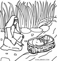 printable moses coloring pages for kids | cool2bkids | fairy tale ... - Baby Moses Coloring Page Printable