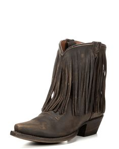 Eight Second Angel   Women's Coyote Fringe Cowgirl Short Boot   Country Outfitter  http://www.countryoutfitter.com/womens-coyote-fringe-cowgirl-short-boot/2590398.html?dwvar_2590398_color=Vintage%20Cafe