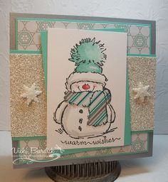 Merry Monday.....Warm Wishes Snowgirl by justcrazy - Cards and Paper Crafts at Splitcoaststampers