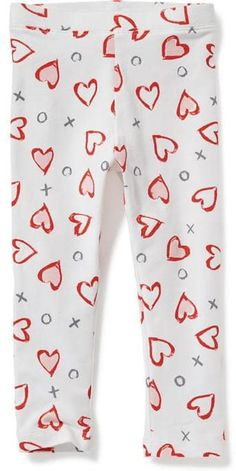 a05ce15d8 30% Off Old Navy Jersey Leggings For Toddler Girls Size 3T - White hearts
