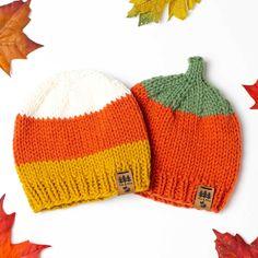 Baby Hat Knitting Pattern, Knitting Machine Patterns, Baby Hats Knitting, Easy Knitting Patterns, Free Knitting, Knitted Hats, Crochet Patterns, Crochet Hats, Crochet Pumpkin Hat