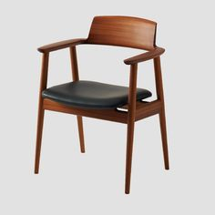 The Kisaragi dining chair made of compressed wood, designed by Japanese Motomi Kawakami Design Room and produced by Hida Sangyo, one of the oldest wooden furniture companies in Japan. Gold award winner of Good Design Sofa Furniture, Wooden Furniture, Furniture Design, Wooden Chairs, Design Loft, Design Apartment, Chair Bench, Upholstered Chairs, Contemporary Furniture