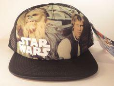 Star Wars Hat Cap Snapback HAN SOLO & CHEWBACCA Costume Cosplay Trucker Hat #StarWars #BaseballCap
