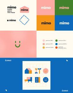 toolkit mimo on Behance by Lucas Sales. toolkit mimo on Behance by Lucas Sales. Corporate Design, Brand Identity Design, Graphic Design Branding, Graphic Design Posters, Corporate Branding, Kids Graphic Design, Brochure Design, Brand Design, Graphic Art