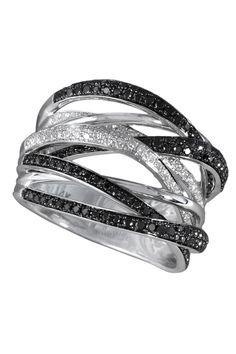 Caviar Multi-Band Ring
