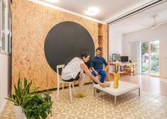 Moving Walls Transform a Tiny Apartment Into a Home Small Space Living, Small Spaces, Madrid Apartment, Moving Walls, Sliding Wall, Tiny Apartments, Interior Decorating, Interior Design, Small House Design